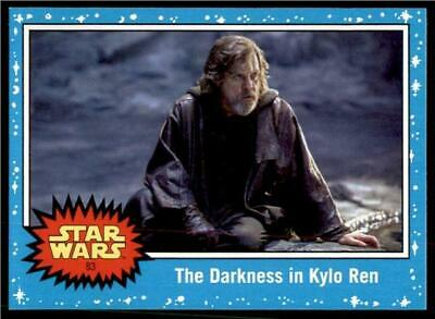 2019 Topps Journey to Rise of Skywalker Base #83 The Darkness in Kylo Ren