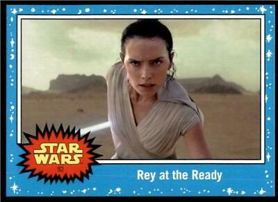 2019 Topps Journey to Rise of Skywalker Base #92 Rey at the Ready