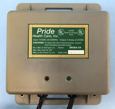 Pride On-Board Battery Charger 2605A-2A  5 Amp, 24 VDC