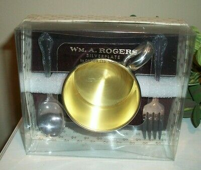 Vintage Baby Child Wm. A. ROGERS Silverplate by ONEIDA LTD. (cup, spoon, fork)