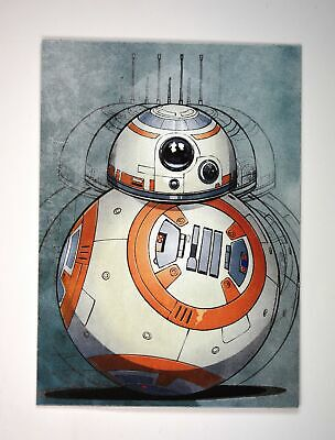 2019 Topps Journey to Rise of Skywalker Illustrated Character #IC-12 BB-8