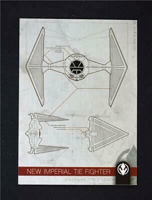 2019 Topps Journey to Rise of Skywalker Schematics #S-2 New Imperial TIE Fighter