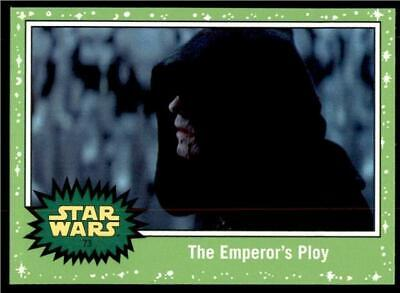2019 Topps Journey to Rise of Skywalker Green #73 The Emperor's Ploy