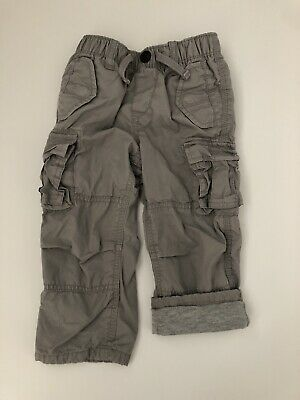 Baby Gap Toddler Boys 2T Gray Jersey Lined Cargo Pants