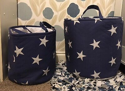 Kirton House Blue Star Nursery Toy Clothes Storage Baskets