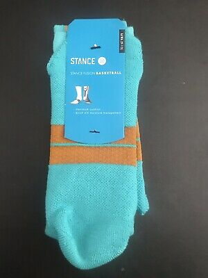 Stance Fusion Basketball Emulsion Athletic Socks Men's Sz L/XL (9-13)