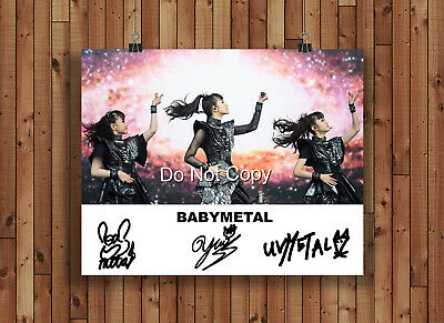 Babymetal Signed Autographed Reprint 8x10 Photo Poster Print Japanese Band