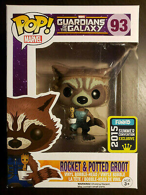 Marvel Guardians Rocket and Potted Groot #93 Funko Pop! SDCC Exclusive!