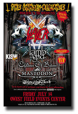 "Slayer Poster Concert 11""x 17"" with Lamb of God - Mastodon - Children of Bodom"