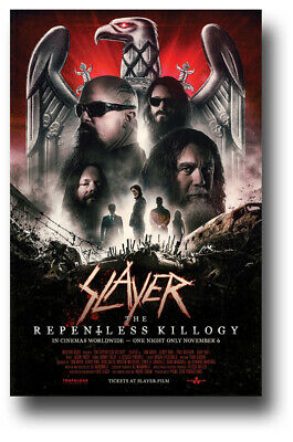 "Slayer Poster Concert 11""X17"" 2019 Repentless Killogy Event SHIPS SAMEDAY USA"