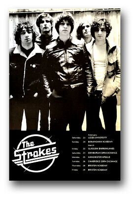 """The Strokes Poster Concert 11""""X17"""" UK  2001 Is This It SHIPS SAMEDAY USA"""