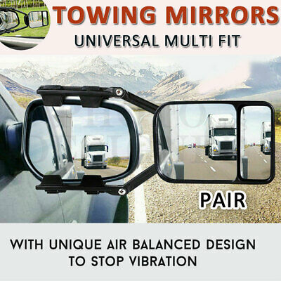 Towing Mirrors Universal Multi Trailer Caravan Car Truck Vehicle 4WD Pair Clip