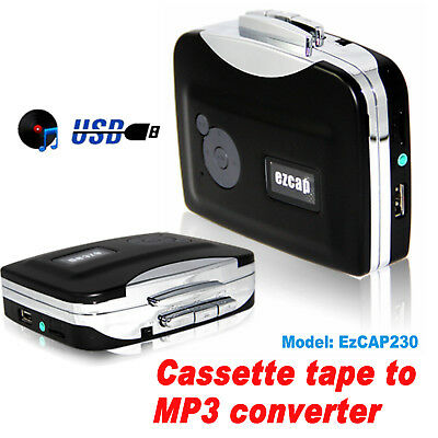 Portable Cassette Tape to MP3 Converter Adapter Audio Music Capture Player