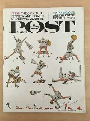 B25 VTG The Saturday Evening Post Nov 25 1961 Norman Rockwell Cover Good Cond!!