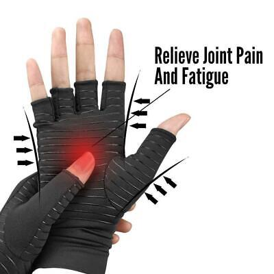 1 Pair Copper Arthritis Gloves Compression Hand Therapy Carpal Tunnel Pain Brace