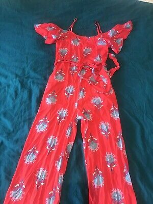 NEW - Red Mister Zimi Sample Jumpsuit • Approximately a Size 8