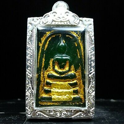 Old Beautyful Antique Phra Somdej Jade Thai Buddha Amulet Real.#1