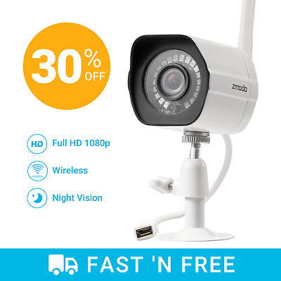 1080p Wifi Home IP Outdoor Security Camera,IR CCTV Remote View Home Surveillance