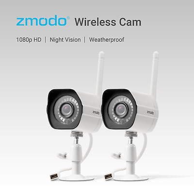 1080p HD 2 WiFi CCTV Home Security IP Cameras Indoor Outdoor IR Video Recording