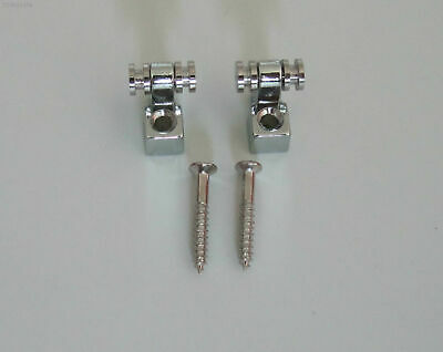 New Chrome 2pcs Roller Style String Retainers Tree for Strat Electric Guitar