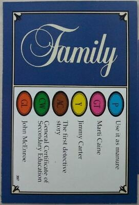 Trivial Pursuit Family Edition - Older and Young player - X50 Extra Cards