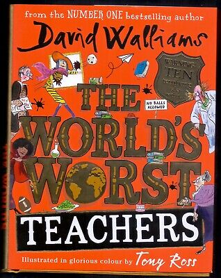 DAVID WALLIAMS. The World's Worst Teachers Hardback SIGNED x 2 First Edition 1/1