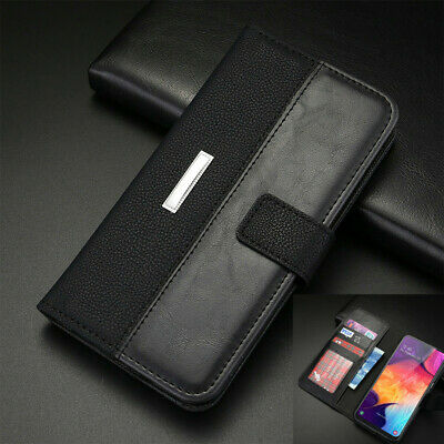 For Samsung Galaxy A10 A20e A40 A50 A70 Leather Magnetic Flip Wallet Case Cover