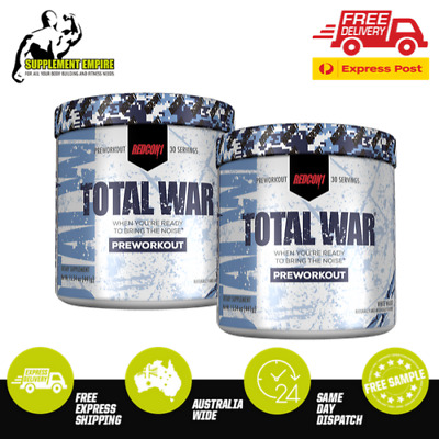 2 X REDCON1 TOTAL WAR PRE WORKOUT White Walker /White Monster 30 serve TWIN PACK