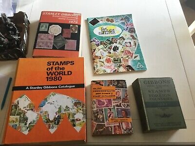 Vintage Stanley Gibbons Catalogue - Stamps Of The World 1980, 1934, 1978 1969