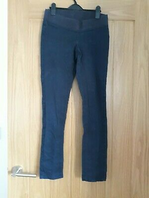 Slim Blooming Marvellous Mothercare Maternity Trousers Size 8 navy underbump