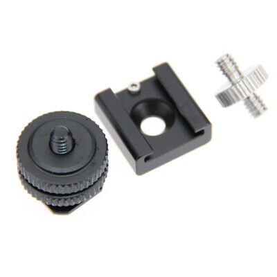 """【SALE】Camera Shoe Mount Hot Cold Shoe Adapter Screw 1/4"""" to 1/4"""" Tripod Adapter"""