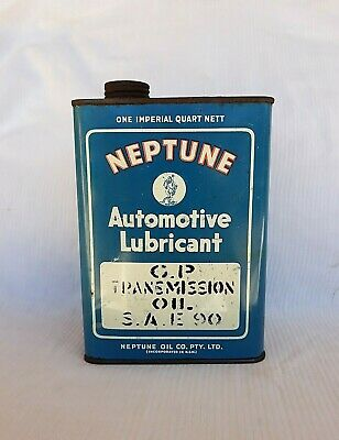 Very Tidy Neptune One Quart Oil Tin Can