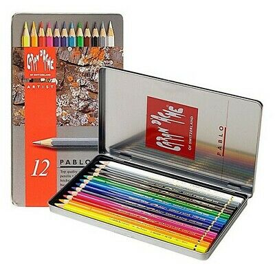 Caran Dache/Creative Art 666312 Caran Dache Artist Pablo 12 Colour Pencil Met...