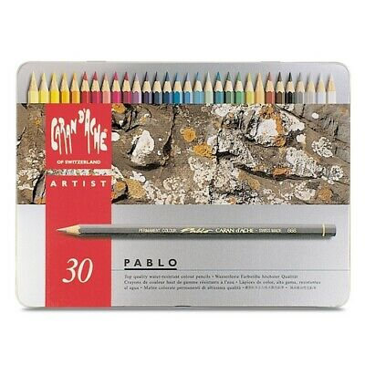Caran Dache/Creative Art 666330 Caran Dache Artist Pablo 30 Colour Pencil Met...