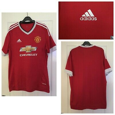 MANCHESTER UNITED Football Club Adidas Climacool Football Jersey Size L (A412)