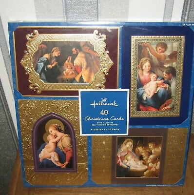 Hallmark 40 Traditional Christmas Cards With Matching Self Sealing Envelopes