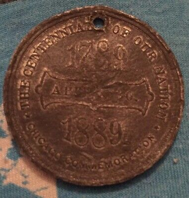 1889 George Washington Inauguration Centennial Medal