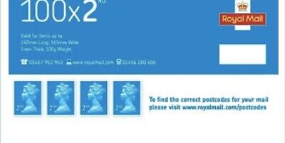 72 Second Class Royal Mail Stamps