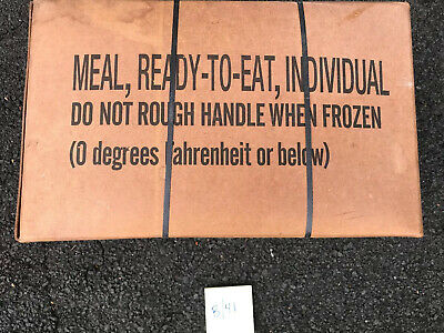 Military MRE Meal Ready to Eat Survival Ration Case B 12 Meals 9/08 Inspection