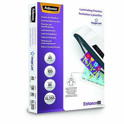 NEW Enhance A5 80 Micron Laminating Pouches Pack Of 100 Transparent ImageLa GIFT