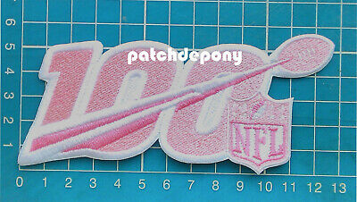 """2019 NFL Breast Cancer Awareness pink 5"""" Patch NFL 100 years anniversary embroid"""