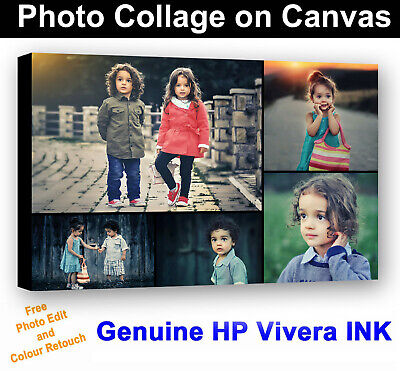 Personalised Canvas Collage Prints Photo Image 30x20 inch
