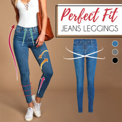 Perfect Fit Jeans Leggings Plus Jeans Lady's Denim Faux Jean Pants