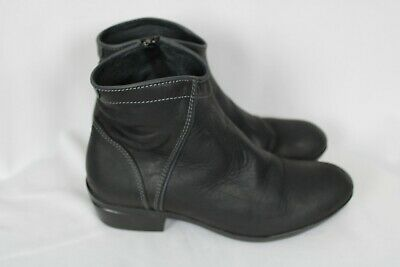 WOLKY WOMENS WINCHESTER Waterproof Black Leather Ankle Boots