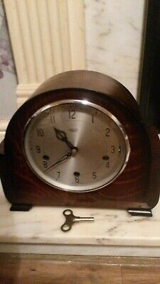 1950s SMITHS ENFIELD WESTMINSTER CHIME MANTEL CLOCK -  WORKING WITH KEY
