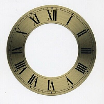 Spun Brass Finish Replacement Clock Zone Dial 7 inches 182mm Roman Numerals CZ27