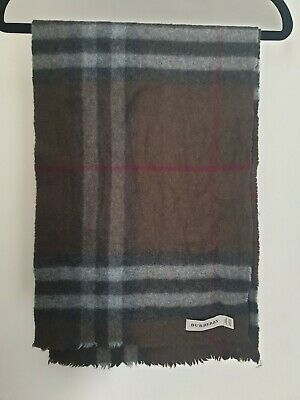 Brown  Check 100% Cashmire Burberry Scarf