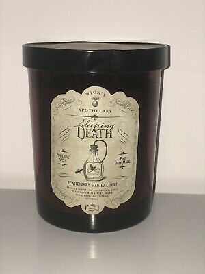 NEW Haven St.  Wicks Apothecary SLEEPING DEATH Candle Halloween