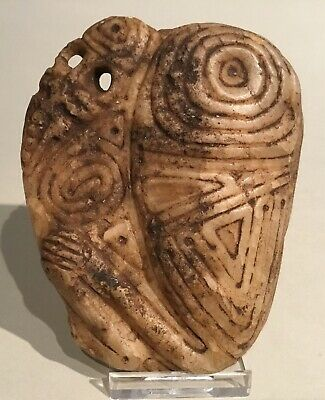 Taino Marble Bird Medallion, Cemi/stamp. PreColumbian