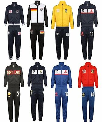 BOYS TRACKSUIT Kids Junior Full Zip Football Tracksuits Bottoms Jogging Age Size